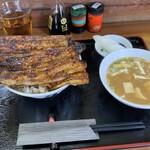うなぎ 丸富 - 'ダブル5450円と味噌汁200円