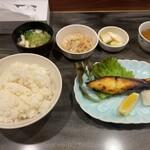 手づくりの味 藍 - 焼き魚定食(ヒラス西京)