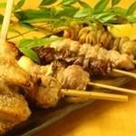 恵比寿 SHIN - 串焼きも炭火でじっくり焼き上げます。