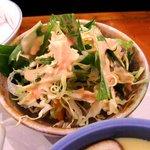 あけみ鮨 佐野植上店 - あけみ鮨 佐野植上店 ランチ定食のみず菜のサラダ