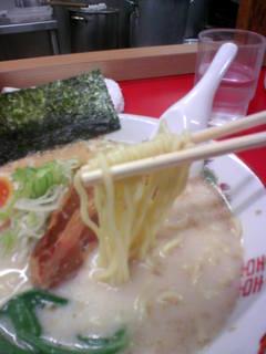 海皇 - 低加水麺(ピンボケご容赦)