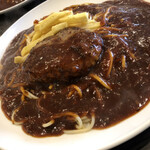 papaboo  - ハンバーグ&ポテトフライ 麺1.2倍 ソース増量