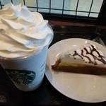 スターバックスコーヒー - バニラ クリーム フラペチーノ+エクストラホイップ、バナナクリームパイ