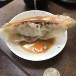 まぐろラーメン大門 - 料理写真:まみこ大好きジャンボギョーザ〜 500円じゃないよっ 大きさ感覚、比例〜