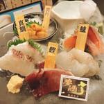 47都道府県の日本酒勢揃い 夢酒 - 鮮魚宝石箱(サクラマス・スズキ・カツオ・マダイ・ウニ)