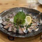 まるたか - 地鯖のタタキ 朝獲れ 限定5食