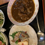 季節料理 大路 - おまかせ定食 ビーフシチューと南蛮