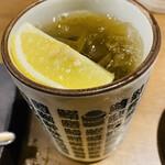 鮨・酒・肴 杉玉 浦安 - 黒レモンサワー