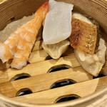 鮨・酒・肴 杉玉 浦安 - 欲張りなシュウマイ3種盛り