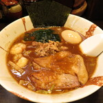 麺屋 優創 - 魚介みそラーメン 1000円 味玉 100円