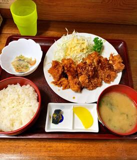 燦家 - チキンカツ定食 ワンコイン500円税込☆