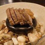 麻布永坂 更科本店 - 鴨の石焼  焼き方はお好みで