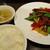 縁香園 - 牛肉と舞茸のオイスター炒め定食