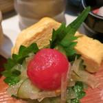 神楽坂 おいしんぼ - 出汁巻玉子とトマトと玉葱のなます