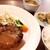 博多 あんくる - 料理写真:ハンバーグランチ。右側にちらっと見えている土鍋炊きご飯が此方のお店のウリです。
