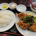 大洋軒 - 鶏のからあげ定食(ランチ時) 690円(税込)