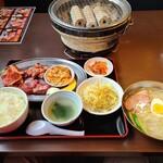 炭火焼肉 ときん - 料理写真:大盛定食冷麺付き(1595円)です。