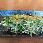 完全個室居酒屋 串焼き Moga_Ru - 焼津直送 漬けマグロとたたき山芋