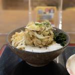 こがね製麺所 - とろろぶっかけ(温)野菜かき揚げ