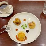 カフェ アメンドロ - お芋スイーツ3点プレート