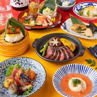 3時間宴会も可能◎自慢の創作和食を多彩なコースでお楽しみあれ
