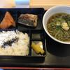あしたば麺堀芳 - 料理写真:あしたば麺定食(塩サバ カボチャ 麺は冷製)