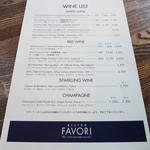 BISTRO FAVORI - ワイン・リスト