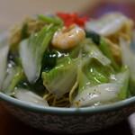 150313828 - 海老揚げ焼きそば(¥730税込み)スープつきます