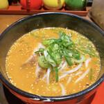 麺匠 はなみち - 贅沢赤味噌ラーメン(ハーフ)