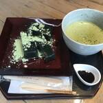 山の湯宿はまやらわ - 料理写真:名水わらび餅よもぎ宇治抹茶セット