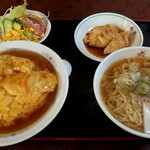 若竹中華飯店 - 料理写真:天津飯セット