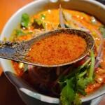 150374643 - チェンマイカレーラーメンのスープ