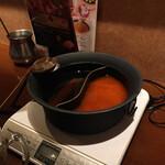 しゃぶしゃぶ温野菜 - スープは冷たい状態でくるから 先ずは沸かせる 敵もやりおるわい…