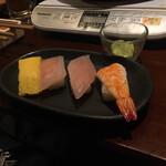 しゃぶしゃぶ温野菜 - スタミナ太郎の寿司みたいなん出てきた