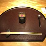 Chisousottakuito - 真鯛(愛媛県来島海峡産)の白子豆腐、羅臼昆布出汁のジュレ掛け
