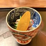 割烹 柊 - 先付:自家製カラスミetc