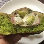 グランディール - 抹茶生地にポテサラ&枝豆&バジルペースト