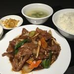 中華料理 成都 - 牛肉カキソースセット