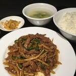 中華料理 成都 - 青椒肉絲セット
