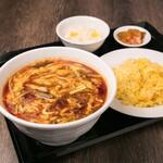 中華料理 成都 - 酸辣麺と半炒飯セット