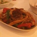 Jail House - 夏野菜のグリーンカレー炒め。辛くてうまい!!