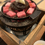 太田なわのれん - 牛なべ 調理前