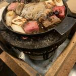 太田なわのれん - 完成した牛なべ