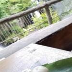 150401340 - 竜頭の滝をバッグにした、ひぐらし餅