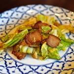 中国菜 智林 - 春キャベツと腊肉の炒め