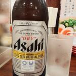 150403831 - 瓶ビール大瓶はスーパードライ500円(税抜き:以下同)