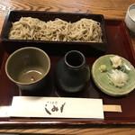 蕎麦處 しみず - 生粉打せいろ大盛り。税込1250円。\( ˆoˆ )/