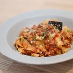 anello ホシノ - 料理写真:スパイス豚ミンチと茄子のラグー(煮込み)ソース☆