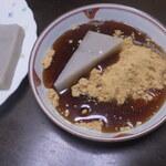 浅野屋本店 - くず餅+きな粉+黒蜜