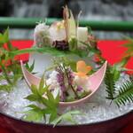 京・貴船ひろや - 料理写真:鱧しゃぶコース お刺身